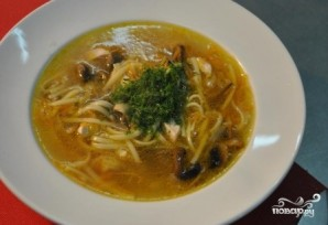 Грибной суп без картофеля - фото шаг 9