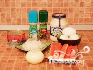 Закуска из крабовых палочек - фото шаг 1