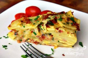 Тортильяс с салями и сыром - фото шаг 7