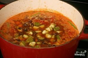 Суп из фасоли и жареных овощей - фото шаг 4