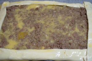 Пирог из слоеного бездрожжевого теста с фаршем - фото шаг 7