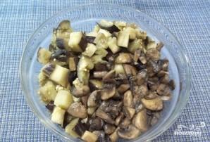 Жареные грибы с баклажанами - фото шаг 5