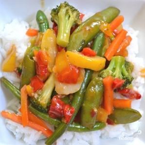 Кисло-сладкий овощной стир-фрай - фото шаг 7