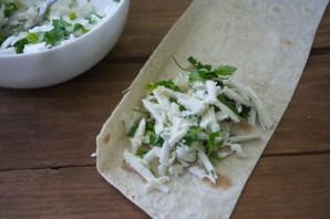 Конвертики с сыром и зеленью - фото шаг 4