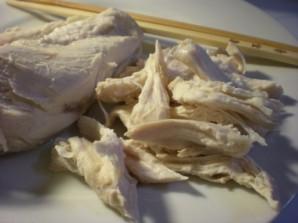 Салат с курицей и ветчиной - фото шаг 4