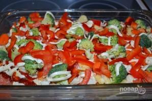 Красная рыба с овощами в духовке - фото шаг 10
