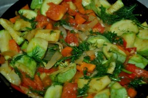 Рагу из кабачков и помидоров - фото шаг 5