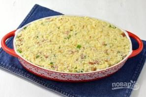 Запеканка из риса, ветчины и сыра - фото шаг 6