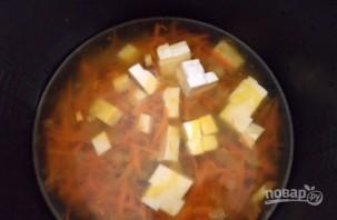 Суп с колбасным сыром - фото шаг 3