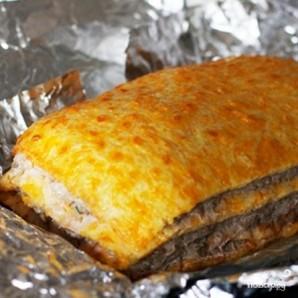 Слоеный сырный пирог с куриным фаршем - фото шаг 11