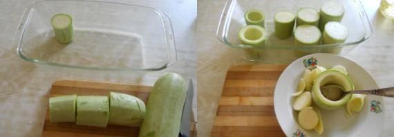 Фаршированные кабачки, запечённые в духовке - фото шаг 1