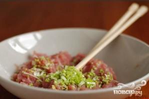 Китайский суп с фрикадельками из мяса и рыбы - фото шаг 2