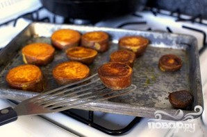 Сладкий картофель с орехами и сыром - фото шаг 1