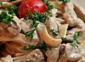 Лапша с курицей и грибами   - фото шаг 6
