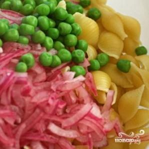 Салат из пасты, болгарского перца и фасоли - фото шаг 3