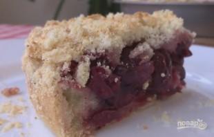 Постный вишневый пирог (нежный и рассыпчатый) - фото шаг 11