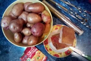 Картофель с салом на мангале - фото шаг 1