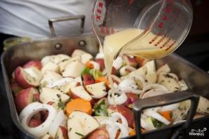 Картофель, запеченный с морковью - фото шаг 6