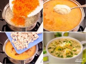 Сырный суп с рисом - фото шаг 3