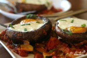 Рагу из цуккини с запеченными яйцами в грибах - фото шаг 4