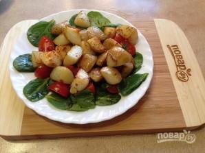 Теплый салат со шпинатом - фото шаг 7