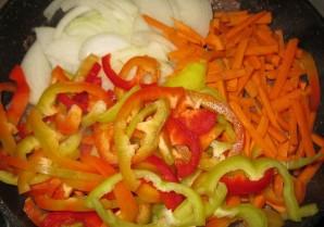 Фунчоза с говядиной и овощами - фото шаг 6