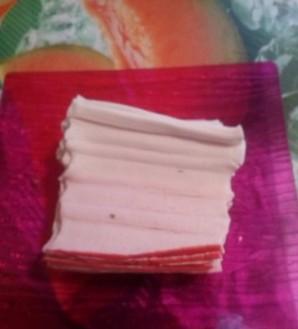 Крабовые палочки, фаршированные грибами - фото шаг 2