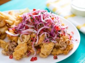 Жареные морепродукты - фото шаг 6