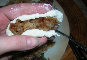 Пирожки с капустой из творожного теста - фото шаг 6