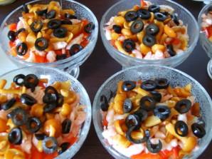 Салат с ветчиной и креветками - фото шаг 6