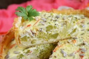 Пирог с творогом и брокколи - фото шаг 9