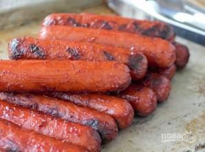Сосиски на гриле для хот-догов - фото шаг 3