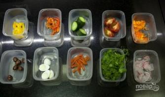 Салат со свежим тунцом - фото шаг 4