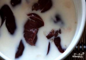 Печень  с грибами в сметане - фото шаг 1