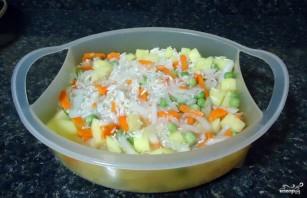 Рис с овощами в пароварке - фото шаг 4
