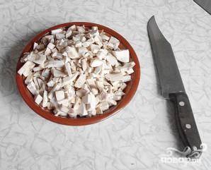 Пресный пирог с грибами - фото шаг 2