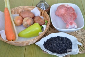 Суп из черной чечевицы - фото шаг 1