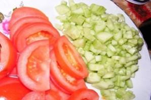 Летний салат с курицей - фото шаг 3