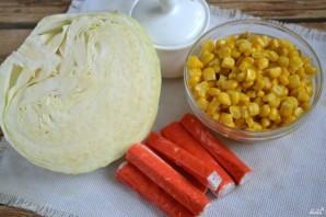 Салат с крабовыми палочками и капустой - фото шаг 1