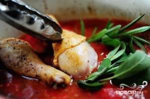 Курица с помидорами и чесноком - фото шаг 8