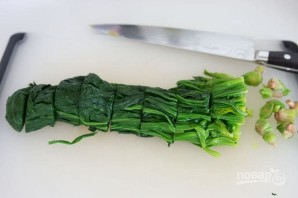 Японский салат из шпината - фото шаг 2