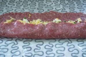 Сырно-мясной рулет - фото шаг 6