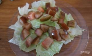 Салат из форели горячего копчения - фото шаг 8