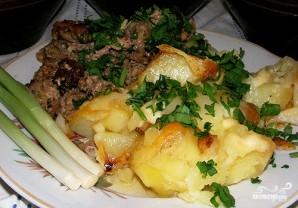 Картофель, запеченный с салом в горшочках - фото шаг 6