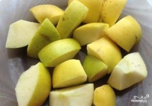 Индейка с яблоками в рукаве - фото шаг 3