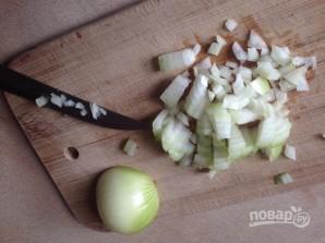 Салат из куриной печени с грибами - фото шаг 5