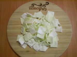 Маринованная капуста со свеклой и чесноком - фото шаг 3