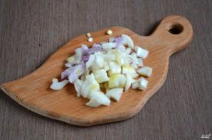 Курица с грибами в духовке - фото шаг 3