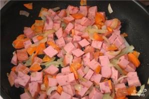 Фасолевый суп с колбасой - фото шаг 6