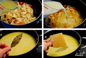 Сырный суп с курицей и рисом - фото шаг 4